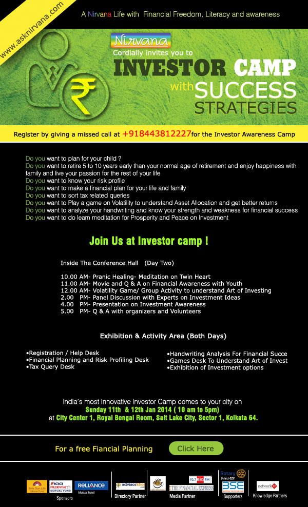 REGISTER YOURSELF FOR A FREE INVESTOR CAMP IN KOLKATA