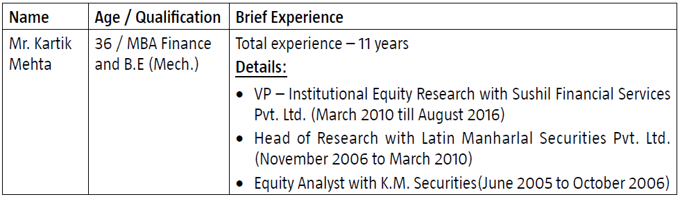 Canara Robeco Notice cum addendum Changes in Key Personnel and – Mutual Fund Analyst